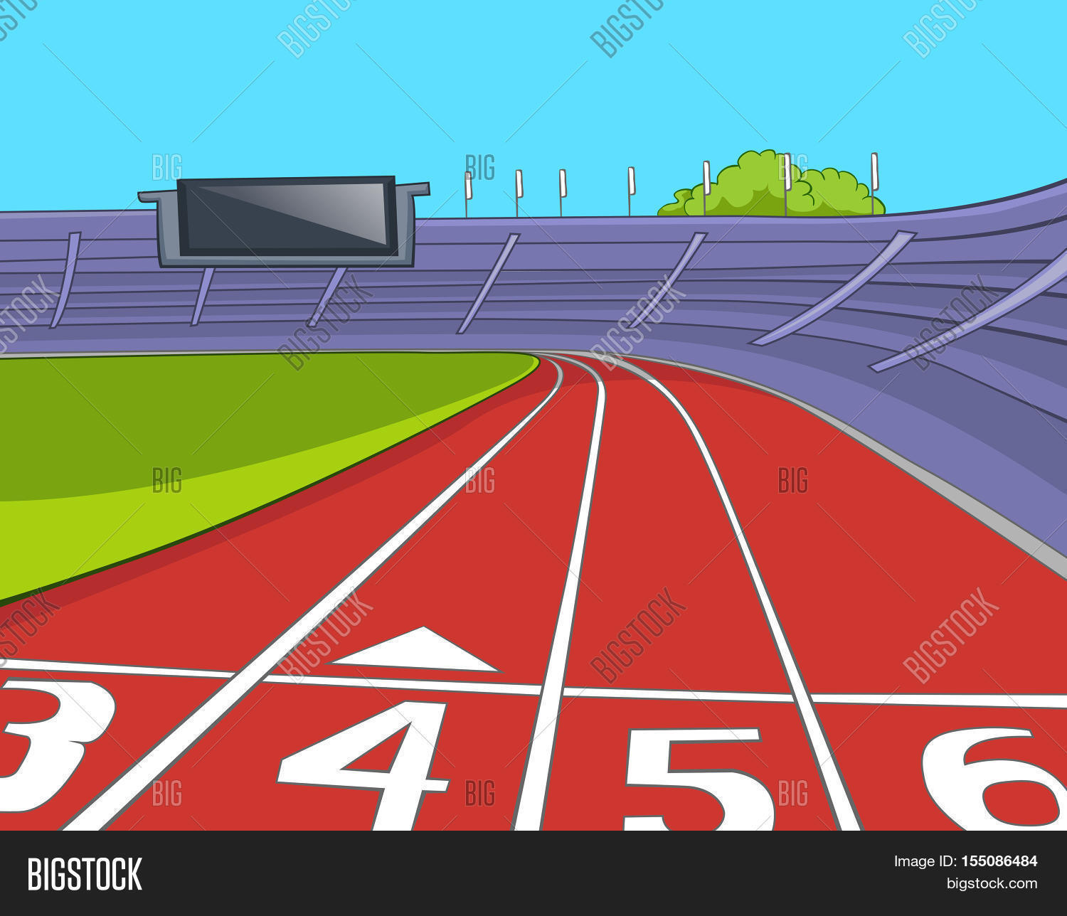 hand drawn cartoon sport stadium image   photo bigstock race track clip art trophy w ribbon race track clipart black and white