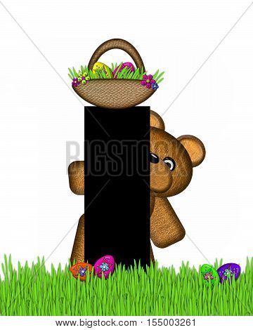 Alphabet Teddy Hunting Easter Eggs I