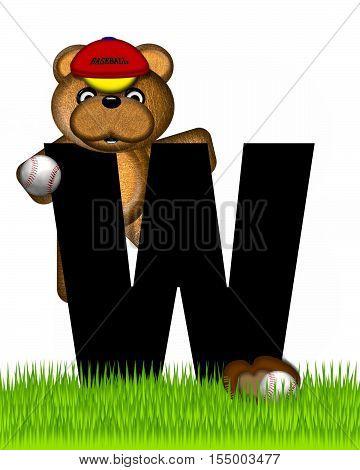 Alphabet Teddy Baseball W