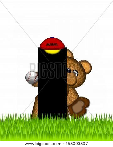 Alphabet Teddy Baseball I