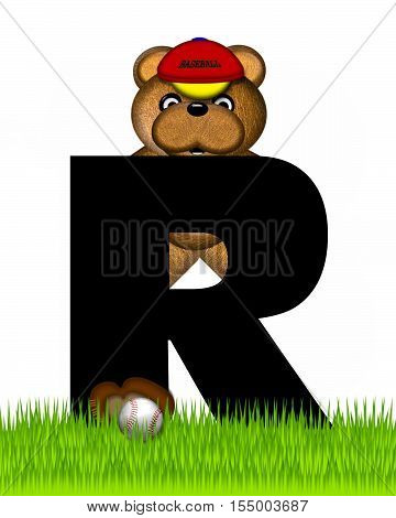 Alphabet Teddy Baseball R