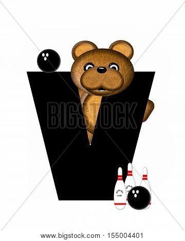 Alphabet Teddy Bowling V