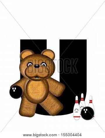 Alphabet Teddy Bowling U