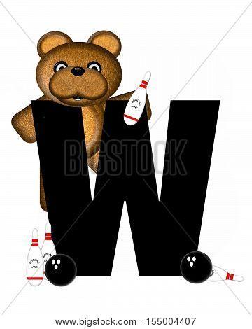 Alphabet Teddy Bowling W