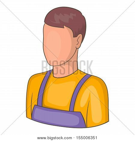 Warehouse worker icon. Cartoon illustration of warehouse worker vector icon for web design