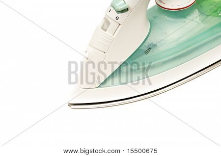 electric iron isolated on a white background