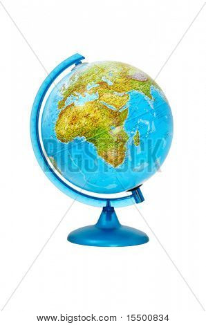 terrestial global isolated on a white background