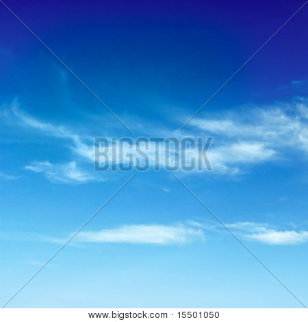 beautiful white clouds in the blue sky