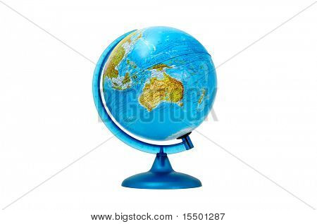 terrestrial globe isolated on a white background