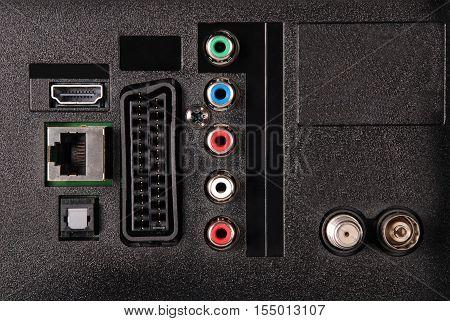 TV socket panel video audio LAN HDMI