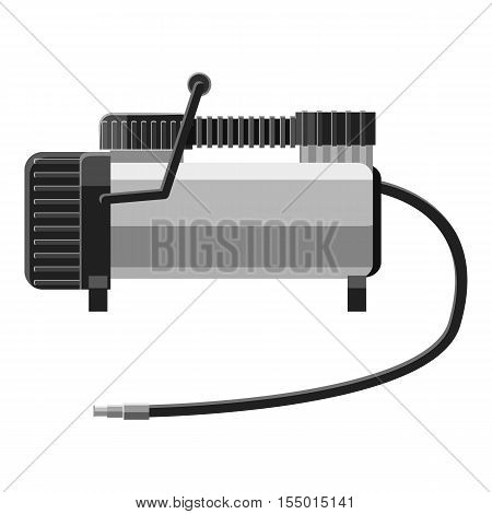 Electric pump icon. Gray monochrome illustration of electric pump vector icon for web