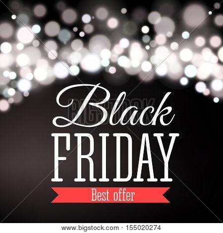 Vector illustration of Black Friday sale inscription design template. Black Friday banner.