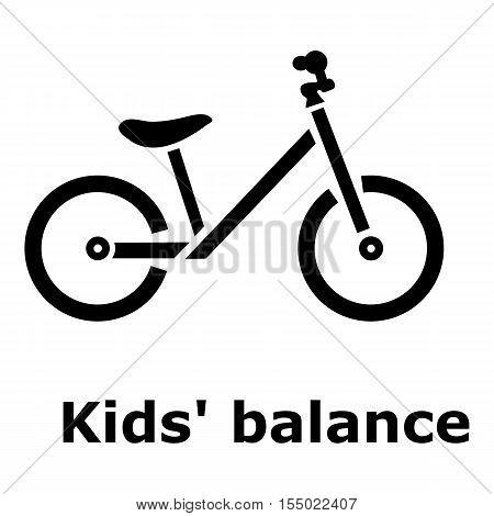 Kids balance bike icon. Simple illustration of kids balance bike vector icon for web