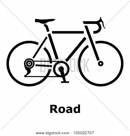 Road bike icon. Simple illustration of road bike vector icon for web