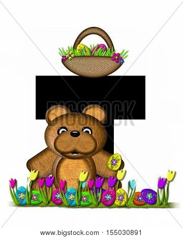 Alphabet Teddy Easter Egg Hunt T