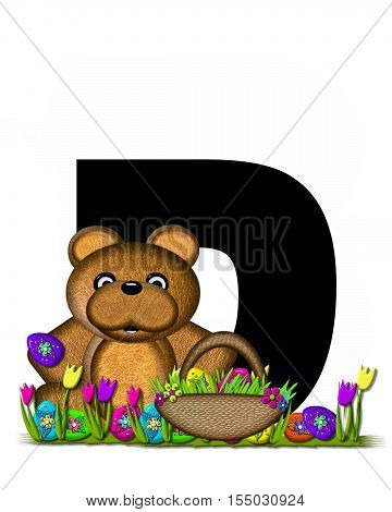 Alphabet Teddy Easter Egg Hunt D