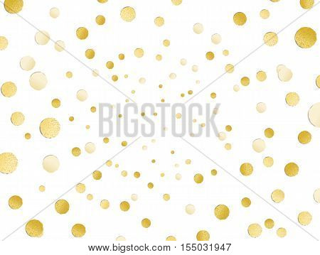 Scattered Shiny Golden Glitter Polka Dot Background, Gold Leaf, Hot Foil Confetti, Golden Metallic D