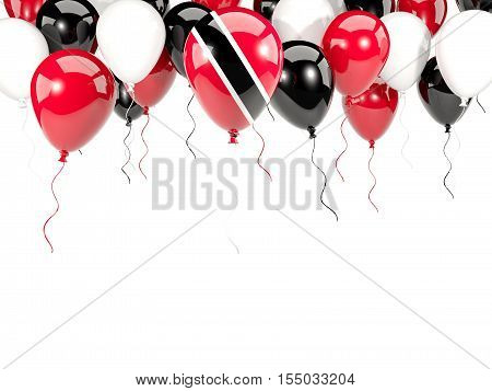 Flag Of Trinidad And Tobago On Balloons
