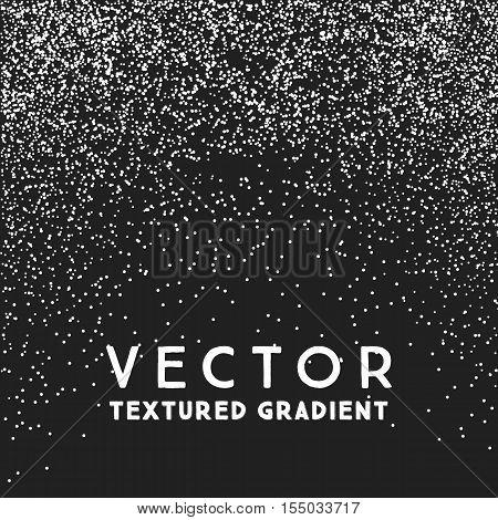 Monochrome Stippled Gradient Texture, Abstract Noir Background