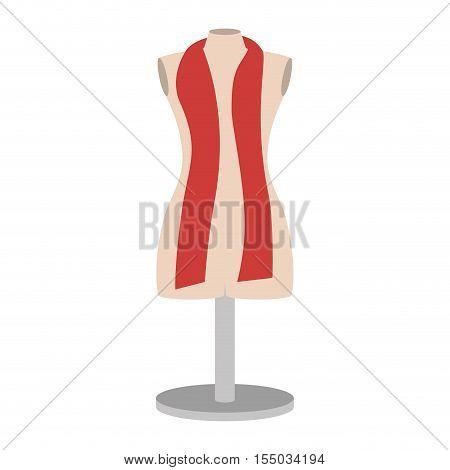 manikin icon over white background. tailor shop design. vector illustration