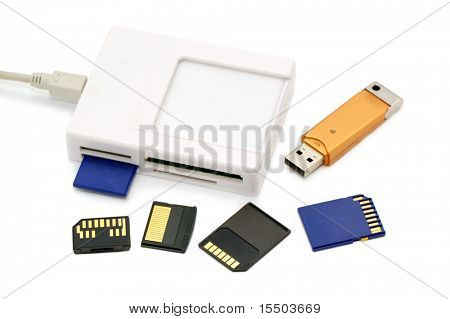 card-reader on a white background