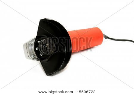 Circular handsaw isolated on a white background