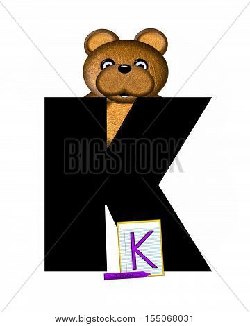 Alphabet Teddy Homework K