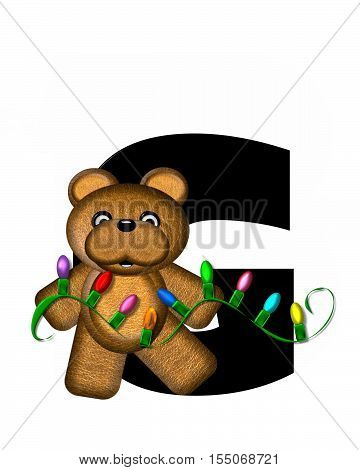 Alphabet Teddy Christmas Lights G