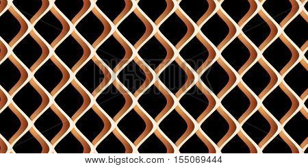 metal grille close up. Vector isolated Illustration