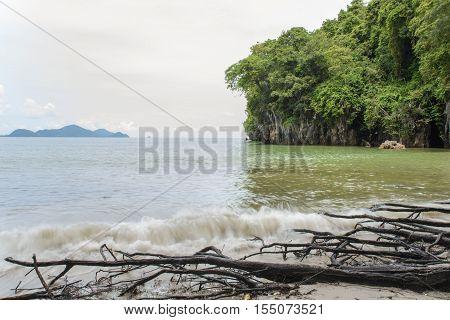 Beach And Cliffs Of  Yong Ling Beach, Thailand
