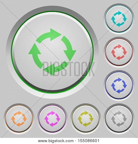 Rotate right color icons on sunk push buttons