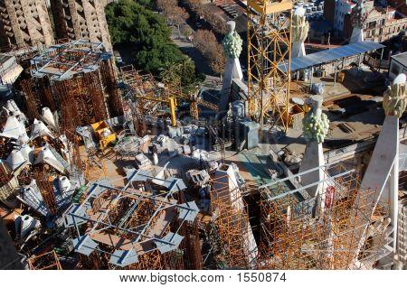 Construction work at Sagrada Familia