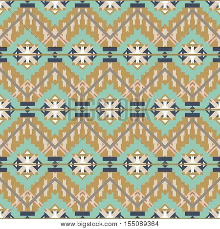 Colorful aztec seamless pattern. Ethnic abstract geometric texture. Hand drawn navajo fabric. Aztec pattern Tribal. Used for  web page background fabric