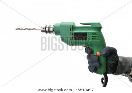 electrical drill isolated on a white