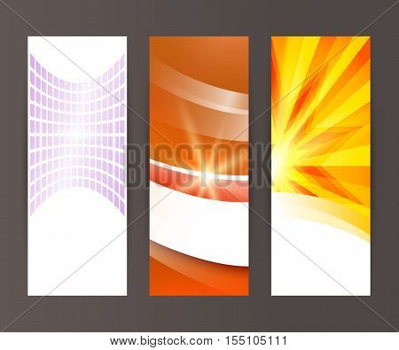 Vertical Banner Set Design Element Background Glow Abstract Shape12