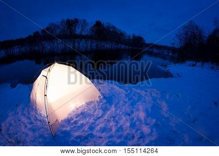 Warm Accommodation In The Cold Winter Night