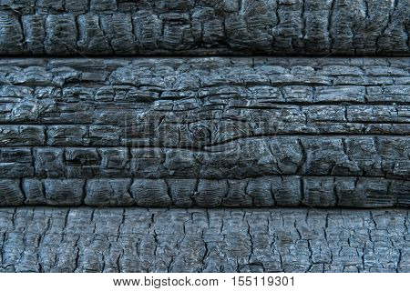 background of charred wood surface, aged, natural
