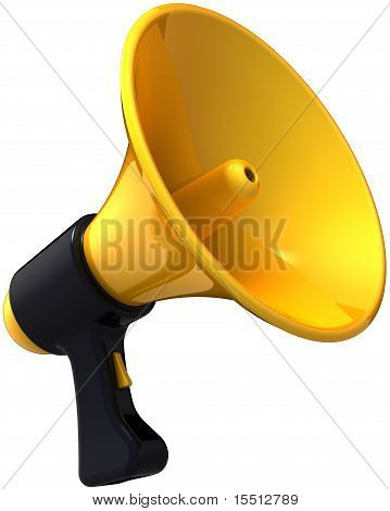 Megaphone stylish yellow black bullhorn