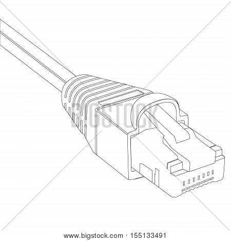 Wiring Diagram For Cat5 Cable moreover Collectionedwn Engagement Ring Illustration together with Usb Type C Wiring Diagram in addition Stock Vector Ether  Cable Vector additionally Structured cabling. on ethernet cable drawing