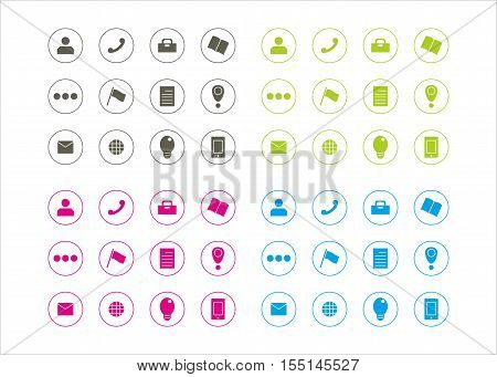 icon collection for busibess series 4 template vector