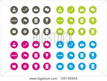 Icon collection for business series 1 template vector
