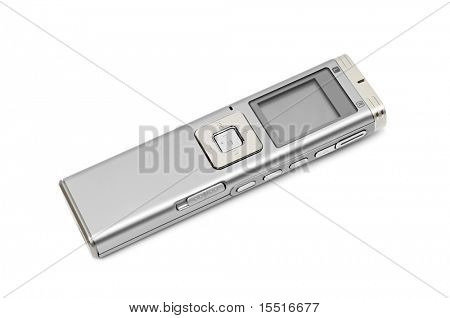 dictaphone isolated on a white background