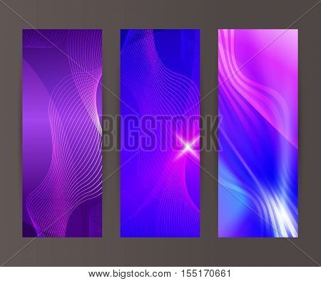 Vertical Banner Set Design Element Background Glow Abstract Shape29