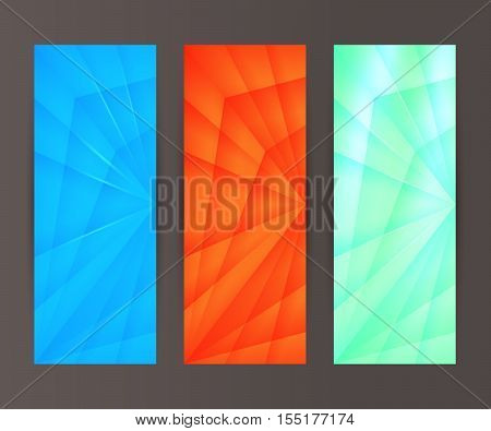 Vertical Banner Set Design Element Background Glow Abstract Shape42