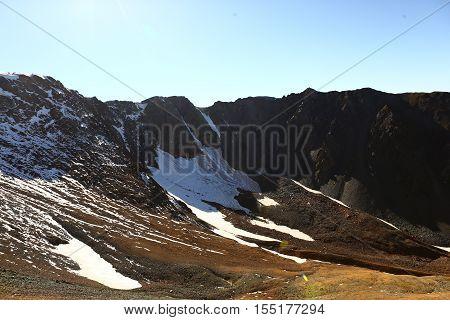 Nature, landscape, mountain landscape, pasur, rocks, summer, stones, mountain, rock, scree, types, Kazakhstan, ridges