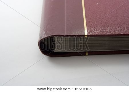 The old book on a white background