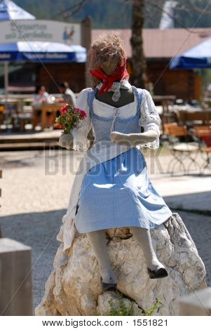 Woman Doll In Th Bavarian Restaurant