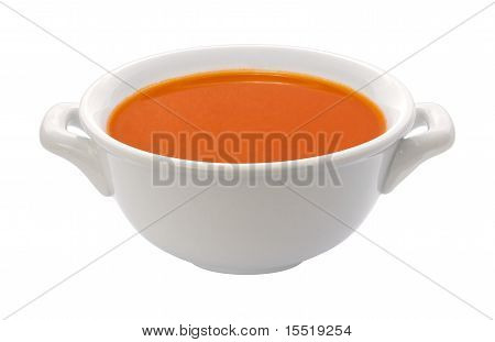 Tomato Soup Bowl (clipping Path)
