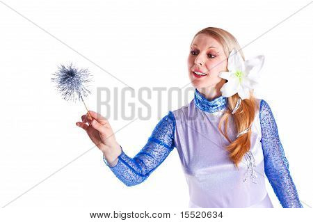 Girl Dressed As Magic Fairy
