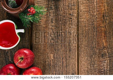 Apples, burner and other ingredients for preparing and decorating candy apples